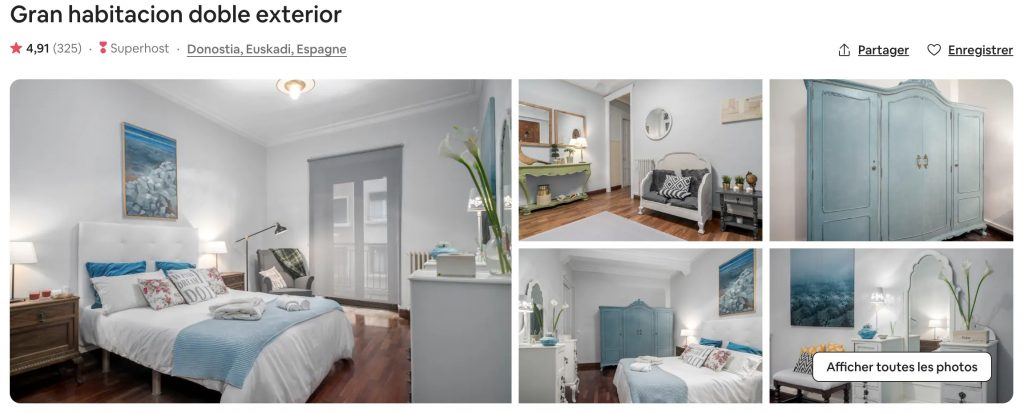 airbnb san sebastian design moderne