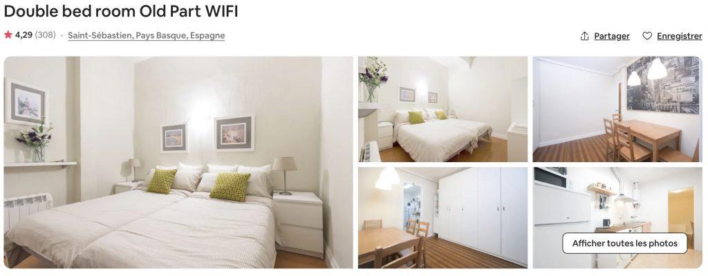 airbnb san sebastian confortable