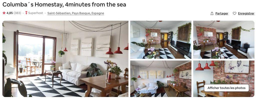 airbnb san sebastian logement atypique