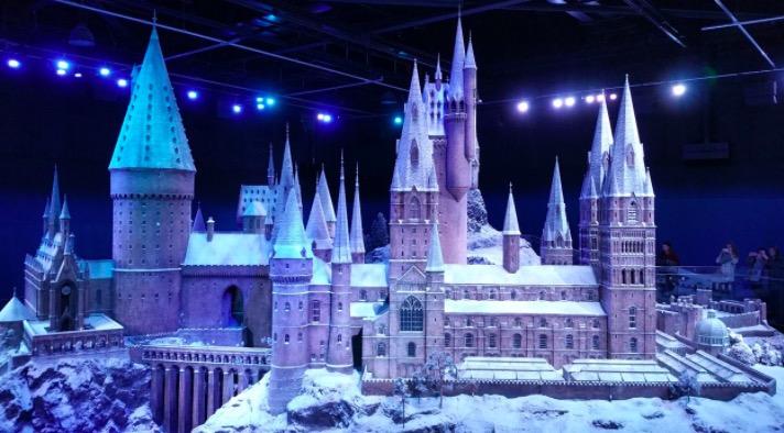 Poudlard en hiver aux studios Warner Bros