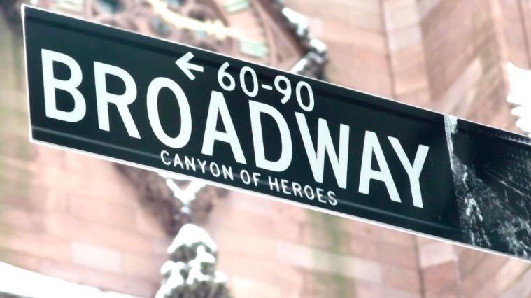 Panneau Broadway à New York