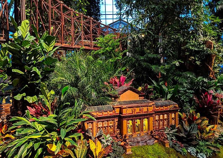 Salon des trains au jardin botanique de New York