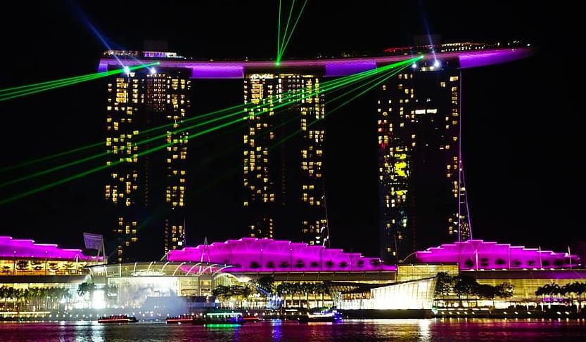 Photo spectacle de lumière à Singapour