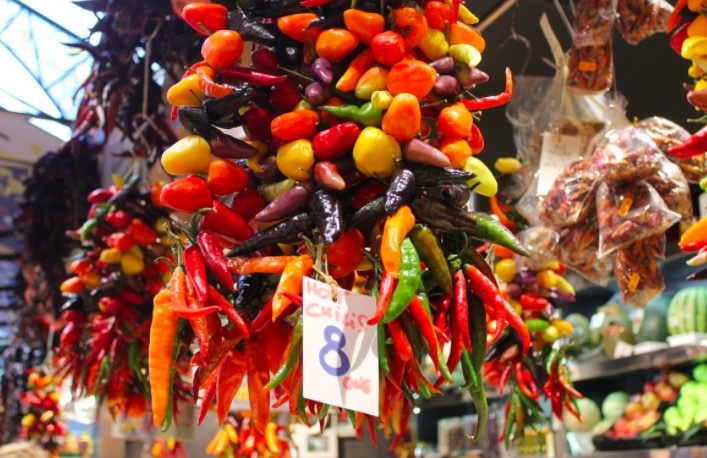 Photo marché de Barcelone, gastronomie