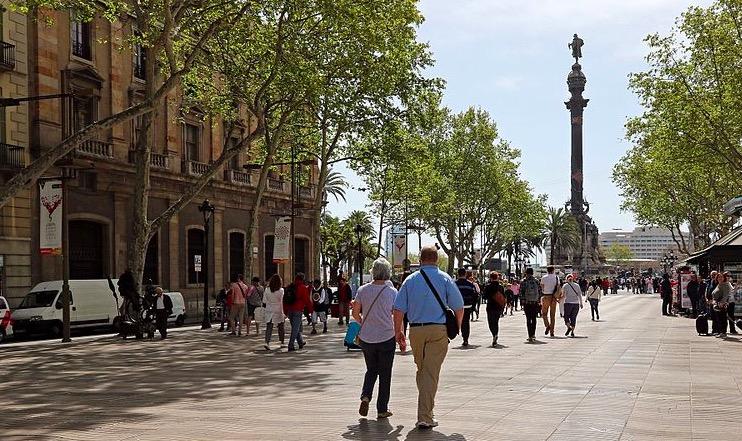 La Rambla à Barcelone